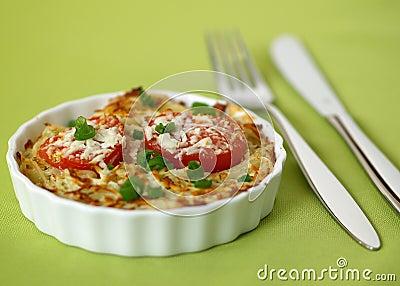 Spaghetti au gratin