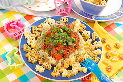Spaghetti bolognese for child