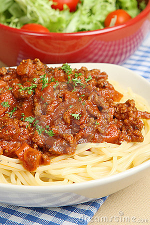 Free Spaghetti Bolognese Or Bolognaise Royalty Free Stock Photography - 9685297