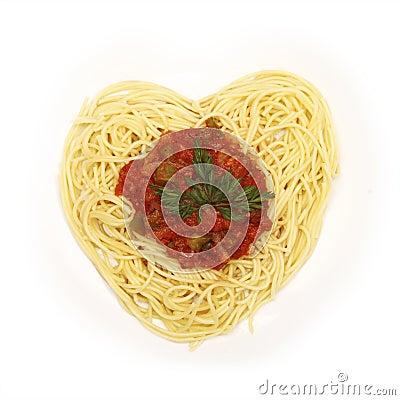 Free Spaghetti For Valentine S Day Stock Photo - 18288670