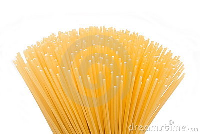 Spaghetti in the foreground