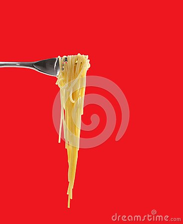 Spaghetti with fork