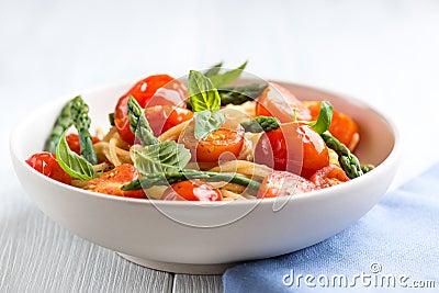 Spaghetti with Green Asparagus