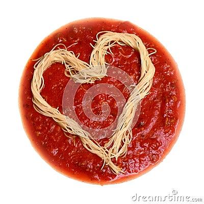 Free Spaghetti Heart Royalty Free Stock Photos - 864988