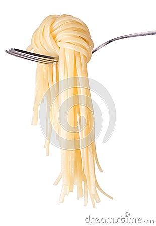 Spaghetti knot on fork