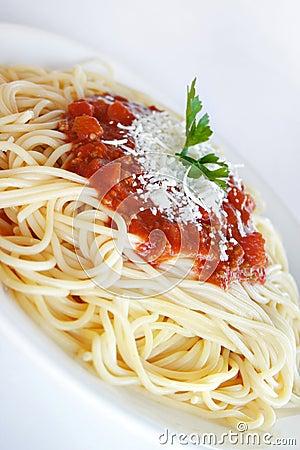 Free Spaghetti Napolitana Stock Image - 373491