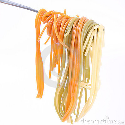 Free Spaghetti On A Fork Stock Photography - 20925832