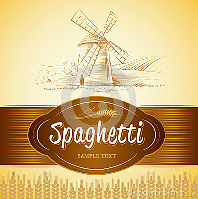 Free Spaghetti. Pasta. Bakery. Labels, Pack For Spaghet Royalty Free Stock Photos - 35507788
