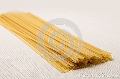 Spaghetti on a table ready to cook