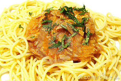 Spaghetti and tuna