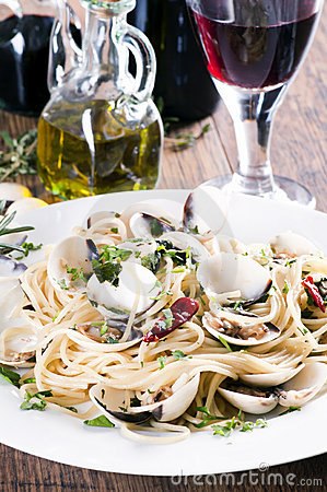 Free Spaghetti Vongole Royalty Free Stock Photos - 19089098