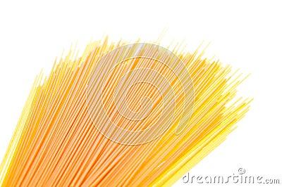 Spaghetti on white