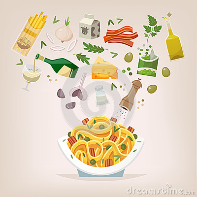 Free Spaghetti With Bacon And Peas Royalty Free Stock Image - 98863506