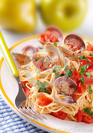Free Spaghetti With Clams Stock Images - 42535114