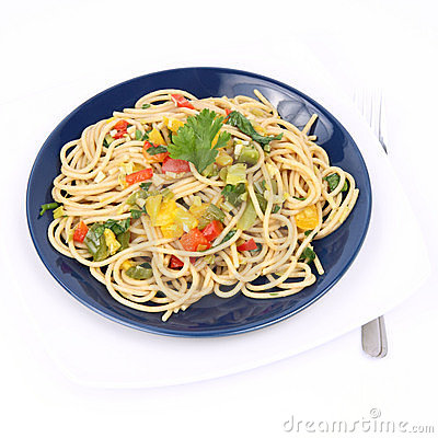 Free Spaghetti With Vegetables Stock Photo - 17128790