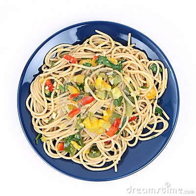 Free Spaghetti With Vegetables Royalty Free Stock Image - 17128796