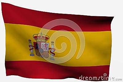 Spain 3d flag