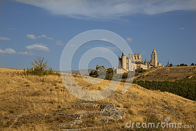 Spain castle Editorial Stock Image