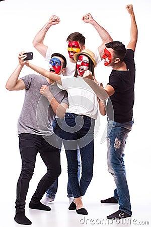 Free Spain, Czech Republic, Turkey, Croatia Take Selfie Photo Royalty Free Stock Images - 70073179