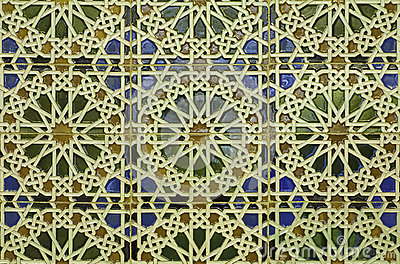 Spain - wall tiling in Mudejar style