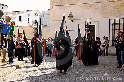 Spain, Easter celebration parade in Jerez Editorial Stock Photo