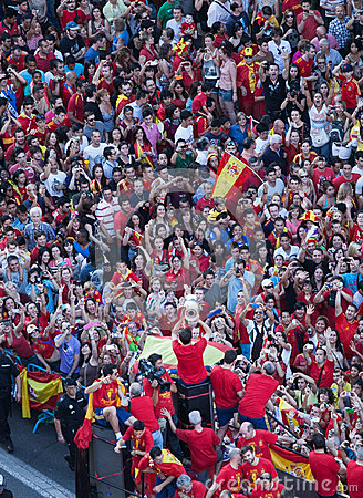 Spain European Champion Editorial Image