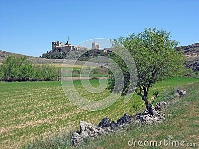 Spain för cuenca klosterlandskap ucles