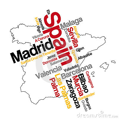 Spain map and cities