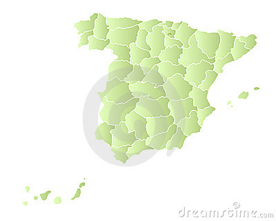Spain map with provinces