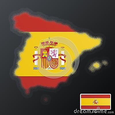 Spain modern halftone
