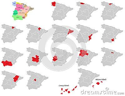 Spain provinces maps