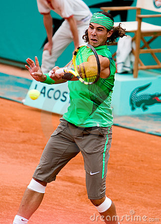 Spain s Rafael Nadal at Roland Garros Editorial Photo