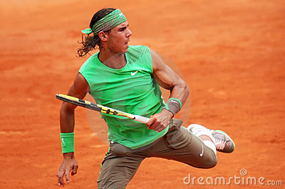 Spain s Rafael Nadal at Roland Garros Editorial Stock Photo
