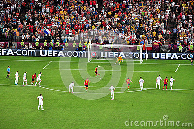 Spain scored the second goal against France Editorial Image
