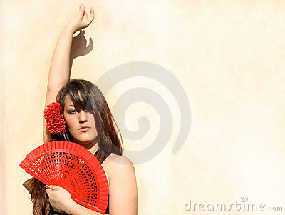 Spain, spanish flamenco dancer
