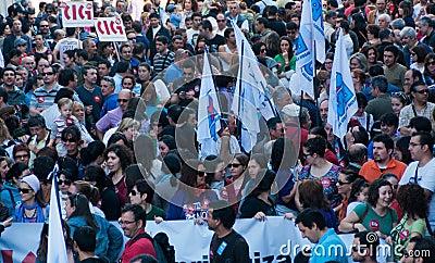 Spain strike Editorial Photo