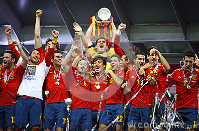 Spain - the winner of UEFA EURO 2012 Editorial Photography