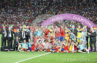 Spain - the winner of UEFA EURO 2012 Editorial Photo