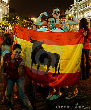 Spain wins World Cup Editorial Image