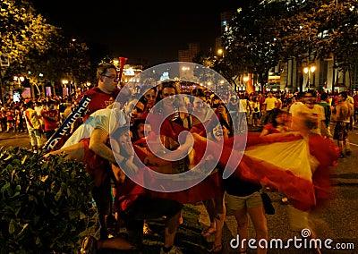 Spain world soccer champion Editorial Stock Image