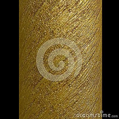 Spaltegoldmetallische Spirale entfernt Beschaffenheit