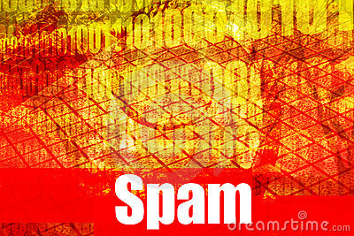 Spam Email Alert Warning Message