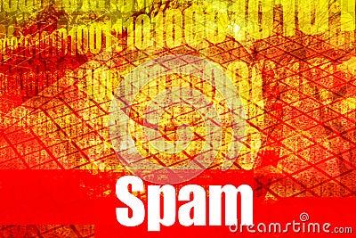 Spam Email Alert Warning Message