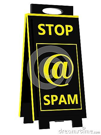 Spam! Het teken van het gevaar