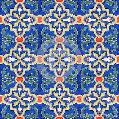 Free Spanich Moroccan Style Vintage Ceramic Tile Stock Photos - 35432203