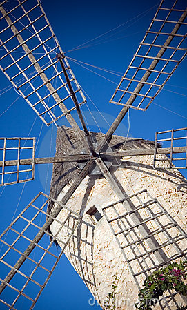 Spanish ancient windmill