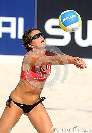 Spanish beach Volley player Nadia Campisi Editorial Image