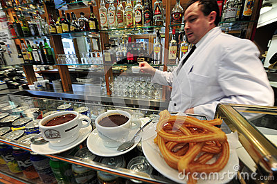 Spanish cafe in Madrid Spain Editorial Stock Image