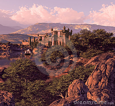 Free Spanish Castle Landscape Royalty Free Stock Images - 13813449