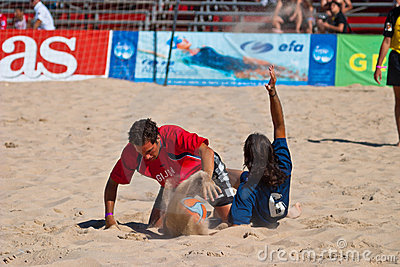 Spanish Championship of Beach Soccer , 2005 Editorial Photo